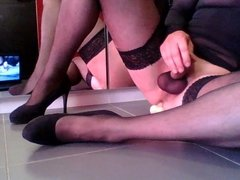 Stockings and dildo 1
