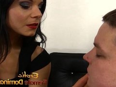 Mistress Natasha Sweet has fun with her help