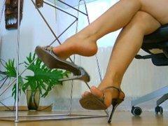 High Heels Under the Desk