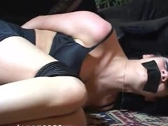 Bound and gagged in lingerie 2