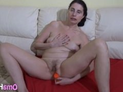 Young Cock Fingers Gray Granny