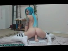 Blue Haired Girl Rides Her Toy, Free Toy Girl Porn Video on pornhubstream