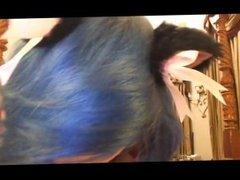 Kitten Sophie Blue Hair Blowjob