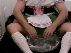 diapered ssissybaby beerwench locked in chastity cage