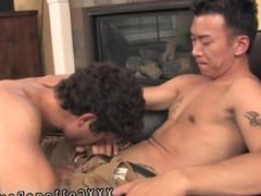Smooth gay twinks shooting cum on faces and sweet round asian twink ass