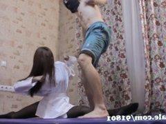 karate master ballbusting