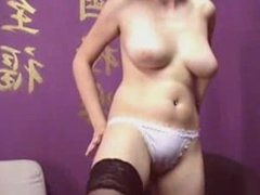 brunette with black stockings and hot tits omegle