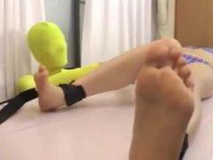 Japanese teen - TICKLE OILED MASSAGE