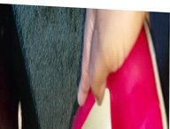Huge load on red heels