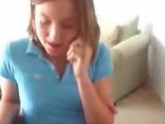 Teen girl fingering her pussy on webcam