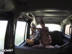 Taxi driver nailed gals ass hole