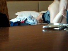 Russische amateurs in een hotel