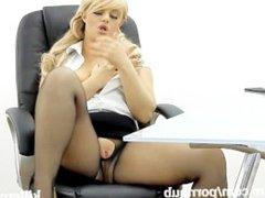 Killergram Bonnie Rose gets caught masturbating in the office