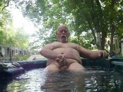 Getting hard in Hot tub