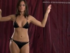 belly dancing girl fast heartbeat