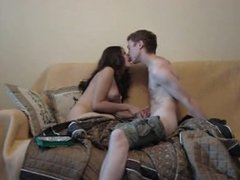 Teen couple have sex