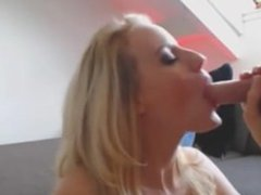 stunning blonde blow job and facial omegle