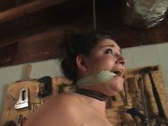 Skyler Cleave gagged and noosed