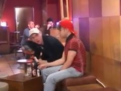Boys Fucking in Public Bar