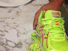 Fucking and cumming wifes hot asics sneakers shoes