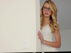 Dyked- Nerdy Blonde Tutor Dominates hot Student