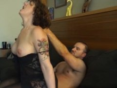 Homemade video - Reverse cowgirl