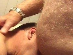 Horny Big Grandpa enjoys getting sucked by friend