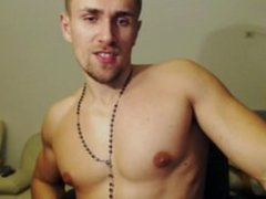 Muscle Stud Naked Jerk and pose