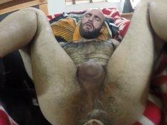 Fisting a former Marine bottom on his Sempre Fi blanket