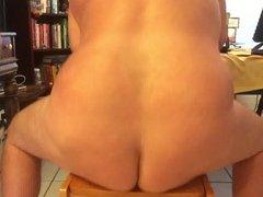 Dildo in bear butt