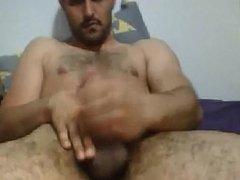 Hairy turkish wanking