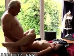 Old geezer and old man old lady Horny senior Bruce catches sight of a