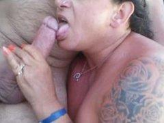 Horny British Gilf Loves Sucking Cock