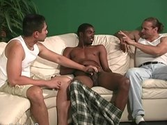 White dude gets anal banged by black men