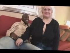 big titted granny gets blacked
