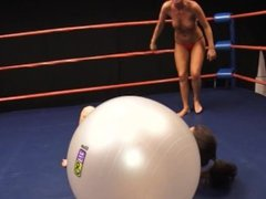 Topless Wrestling with Smothering & Humiliation