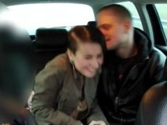 young couple begin fucking in taxi and continue at home with a taxidriver!