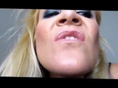 Blonde Girl face-licking Guy