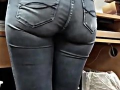 Hot cashier ass in tight jeans candid booty!!!!