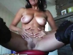 1fuckdatecom Hot milf in boots playing with