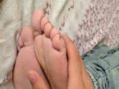 Sleeping Chinese Student Foot Worship
