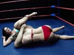 Wrestling: Carolyn vs. Ashley - Topless Catfight with Facesit for Loser