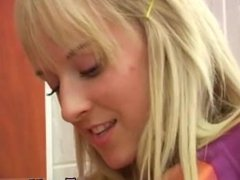 Lesbian strapon seduction Young lezzies having fun in locker room