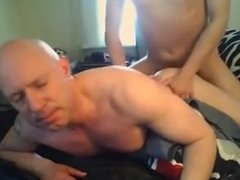 Gay Sissy Mike Shaved smooth receives hard anal bareback sucks cock clean