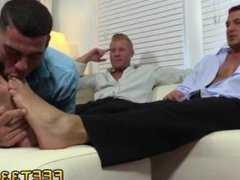 German gay cock sucking porn Ricky Worships Johnny & Joey's Feet