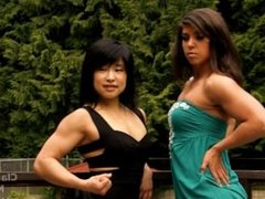 M Lin And C evans posing