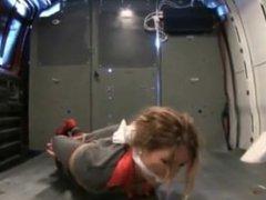 girl tied up in a van