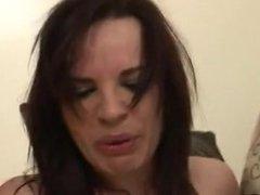 Racist white bitch takes black cock
