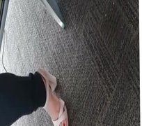 CANDID FEET IN THE AIRPORT
