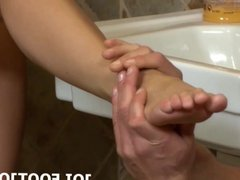 I cant wait to give you a footjob JOI